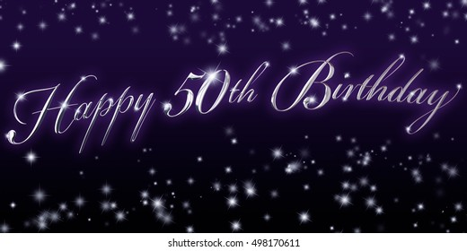 50th Birthday Banner - Great for that significant birthday celebration!