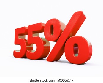 55 Percent Discount 3d Sign on White Background, Special Offer 55% Discount Tag, Sale Up to 55 Percent Off, Sale Symbol, Special Offer Label, Sticker, Tag, Banner, Advertising, Badge, Emblem, Web Icon