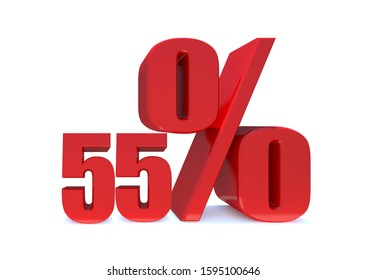 55 Percent off 3d Sign on White Background, Special Offer 55% Discount Tag, Sale Up to 55 Percent Off,big offer, Sale, Special Offer Label, Sticker, Tag, Banner, Advertising, offer Icon