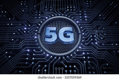 5G - 5th Generation Wireless Systems. 3D rendering graphic illustration on the theme of 'Wireless Technologies / Mobile Networks'.
