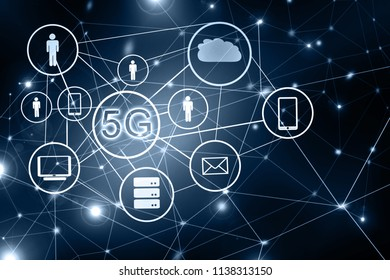 5G k Internet mobile wireless concept. Best Internet Concept of global business from concepts series. Symbol of trinternet, technology and communication