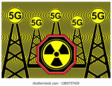 5G radiation health risk. Wireless networks and cell towers: scientists warn of negative impacts on humans