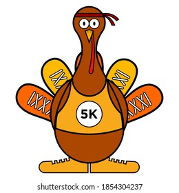 5K Turkey Trot Mascot/Icon is an mascot/icon for Turkey Trot Event.
