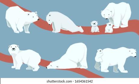 6 kinds of cute polar bear