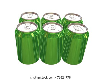 6 pack green