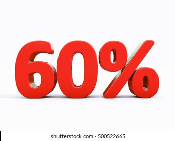 60 Percent Discount 3d Sign on White Background, Special Offer 60% Discount Tag, Sale Up to 60 Percent Off, Sale Symbol, Special Offer Label, Sticker, Tag, Banner, Advertising, Badge, Emblem, Web Icon