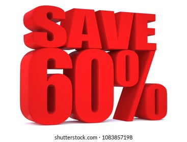 60 Percent off 3d Sign on White Background, Special Offer 60% Discount Tag, Sale Up to 60 Percent Off,big offer, Sale, Special Offer Label, Sticker, Tag, Banner, Advertising, offer Icon, save money
