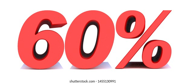 60 Percent off 3d Sign on White Background, Special Offer 60% Discount Tag, Sale Up to 60 Percent Off,big offer, Sale, Special Offer Label, Sticker, Tag, Banner, Advertising, offer Icon