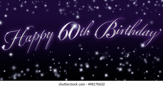 60th Birthday Banner - Great for that significant birthday celebration!