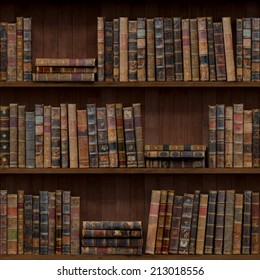7 of 15 Old books seamless texture (vertically and horizontally). Bookshelf Background. Also tiled with other 15 textures from same pack in my gallery.
