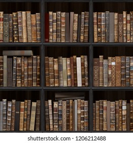 7 Of 30 Black Wood Bookshelf Old Books Seamless Texture Vertically And Horizontally