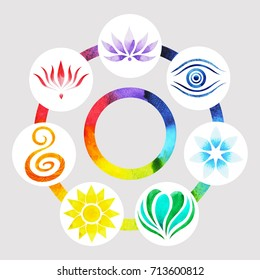 Chakra Colors Images, Stock Photos & Vectors | Shutterstock