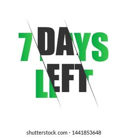 7 days to go.  stock illustration.