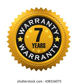 7 Years Warranty Sign. 3D rendering