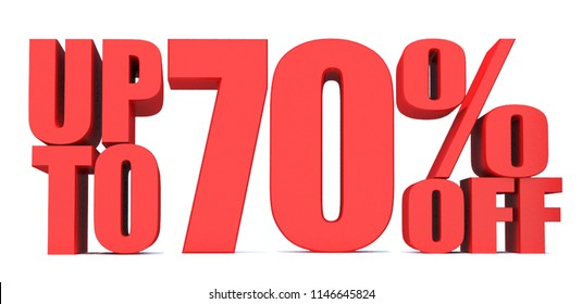 70 Percent off 3d Sign on White Background, Special Offer 70% Discount Tag, Sale Up to 70 Percent Off,big offer, Sale, Special Offer Label, Sticker, Tag, Banner, Advertising, offer Icon