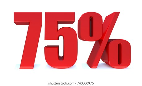 75 Percent Discount 3d Sign on White Background, Special Offer 75% Discount Tag, Sale Up to 75 Percent Off, Sale Symbol, Special Offer Label, Sticker, Tag, Badge, Emblem.