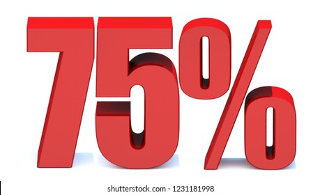 75 Percent off 3d Sign on White Background, Special Offer 75% Discount Tag, Sale Up to 75 Percent Off,big offer, Sale, Special Offer Label, Sticker, Tag, Banner, Advertising, offer Icon