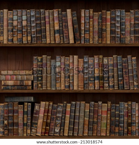 8 Of 15 Old Books Seamless Texture Vertically And Horizontally Bookshelf Background