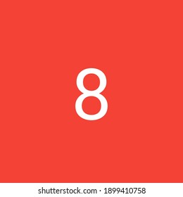 8 is the 8th number in the series