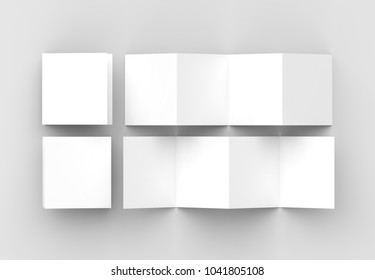 10 page leaflet 5 panel accordion stock illustration 1072114856