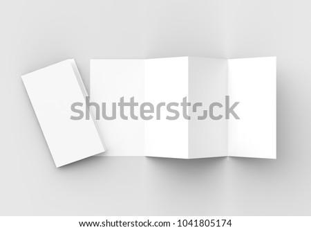 8 page leaflet 4 panel accordion stock illustration 1041805174