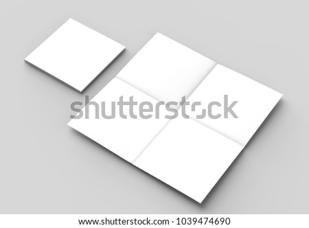 8 page leaflet french fold right stock illustration 1039474690