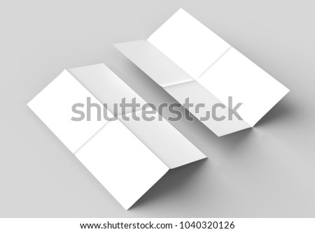 8 page leaflet french fold right stock illustration 1040320126