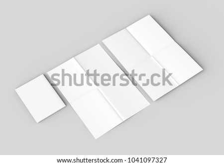 8 page leaflet french fold right stock illustration 1041097327