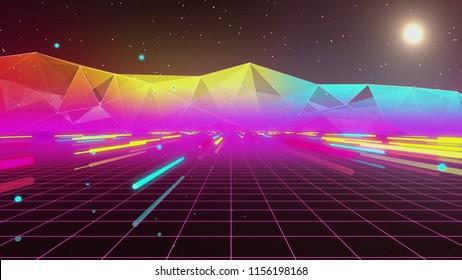 80s Futurism Neon Tube