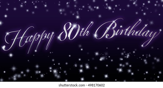 80th Birthday Banner - Great for that significant birthday celebration!