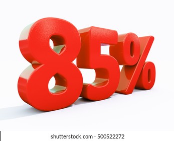 85 Percent Discount 3d Sign on White Background, Special Offer 85% Discount Tag, Sale Up to 85 Percent Off, Sale Symbol, Special Offer Label, Sticker, Tag, Banner, Advertising, Badge, Emblem, Web Icon