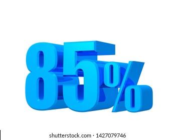 85 percent discount,sales, offer, 85% offer 3D rendering