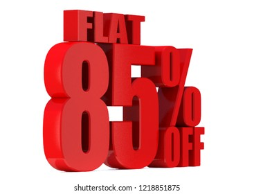 85 Percent off 3d Sign on White Background, Special Offer 85% Discount Tag, Sale Up to 85 Percent Off,big offer, Sale, flat, Special Offer Label, Sticker, Tag, Banner, Advertising, offer Icon