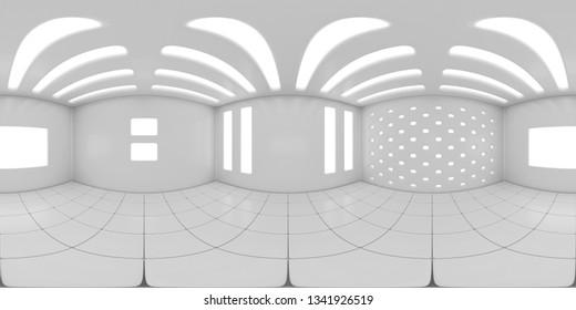 8K HDRI map, high contrast spherical environment panorama background, modern interior light source illumination (3d indoor equirectangular rendering)