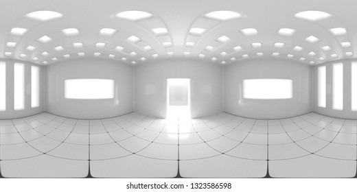 8K HDRI map, spherical environment panorama background, modern high contrast interior light source rendering (3d equirectangular illustration)