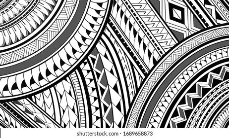 8K Maori Polynesian pattern tattoo design illustrations on a white background.
