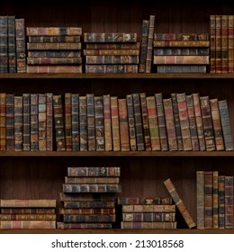 9 of 15 Old books seamless texture (vertically and horizontally). Bookshelf Background. Also tiled with other 15 textures from same pack in my gallery.
