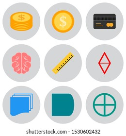 9 icon set of Universal  for your website and project