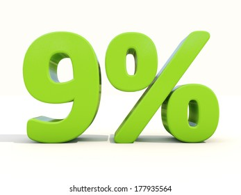 9 percent discount 3 d sign on stock illustration 638955772