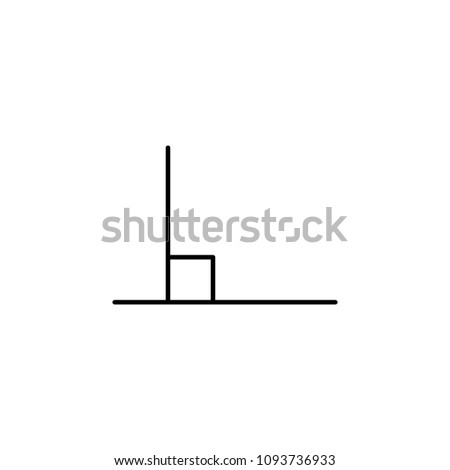 90 Degree Angle Icon Element Geometric Stock Illustration 1093736933