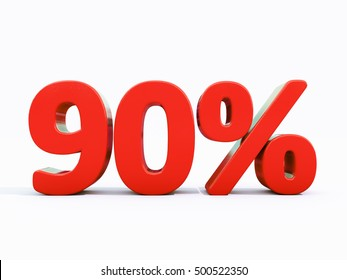 90 Percent Discount 3d Sign on White Background, Special Offer 90% Discount Tag, Sale Up to 90 Percent Off, Sale Symbol, Special Offer Label, Sticker, Tag, Banner, Advertising, Badge, Emblem, Web Icon