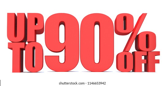 90 Percent off 3d Sign on White Background, Special Offer 90% Discount Tag, Sale Up to 90 Percent Off,big offer, Sale, Special Offer Label, Sticker, Tag, Banner, Advertising, offer Icon
