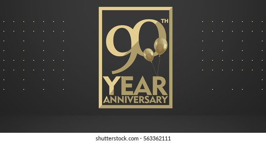 90 Th anniversary gold logo