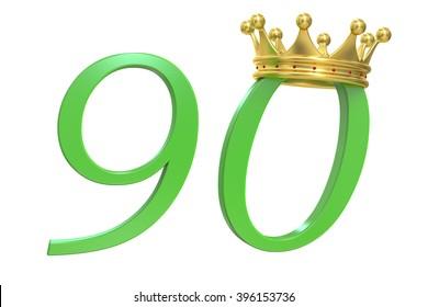 90 years of Queen, 3D rendering