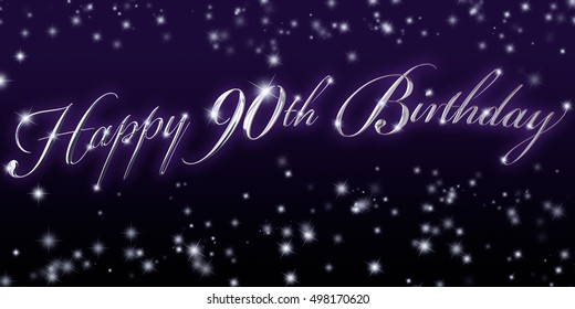 90th Birthday Banner - Great for that significant birthday celebration!