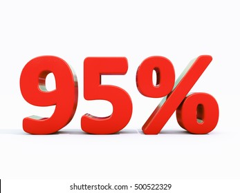 95 Percent Discount 3d Sign on White Background, Special Offer 95% Discount Tag, Sale Up to 95 Percent Off, Sale Symbol, Special Offer Label, Sticker, Tag, Banner, Advertising, Badge, Emblem, Web Icon