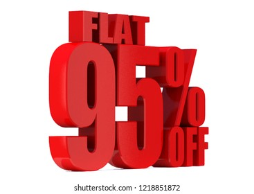95 Percent off 3d Sign on White Background, Special Offer 95% Discount Tag, Sale Up to 95 Percent Off,big offer, Sale, flat, Special Offer Label, Sticker, Tag, Banner, Advertising, offer Icon