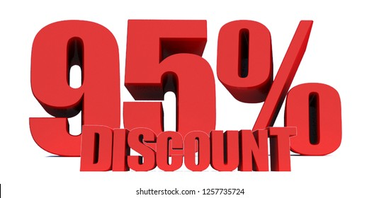 95 Percent off 3d Sign on White Background, Special Offer 95% Discount Tag, Sale Up to 95 Percent Off,big offer, Sale, Special Offer Label, Sticker, Tag, Banner, Advertising, offer Icon