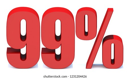 99 Percent off 3d Sign on White Background, Special Offer 99% Discount Tag, Sale Up to 99 Percent Off,big offer, Sale, Special Offer Label, Sticker, Tag, Banner, Advertising, offer Icon