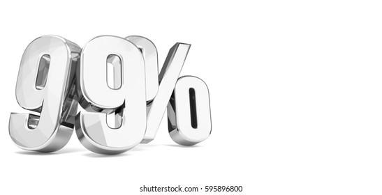99 percent silver 3d render